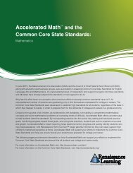 Accelerated Math™ and the - Renaissance Learning
