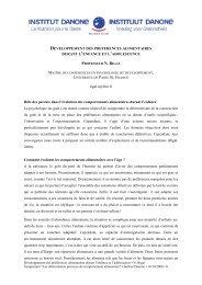 DEVELOPPEMENT DES PREFERENCES ... - Danone Institute