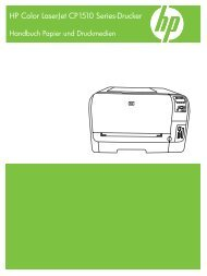 HP Color LaserJet CP1510 Series Printer Paper and Print Media ...