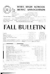 Fall Bulletin No. 215 - August 1999 - The Iowa High School Music ...
