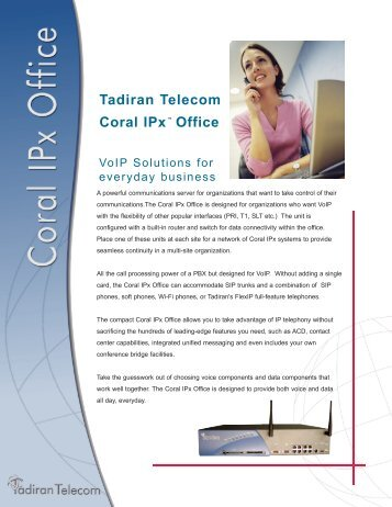 Tadiran Telecom Coral IPx™ Office - For all your VOICE and DATA ...