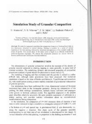 Simulation Study of Granular Compaction