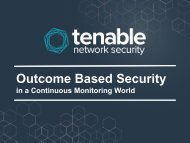 Outcome Based Security in a Continuous Monitoring World
