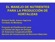 el manejo de nutrientes para la producción de hortalizas