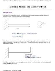 Harmonic Analysis of a Cantilever Beam - University of Alberta
