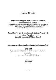 CV de monsieur André Bélisle
