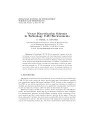 Vector Discretization Schemes in Technology CAD Environments - IMT