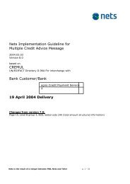 Nets Implementation Guideline for Multiple Credit Advice Message ...