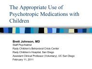 The Appropriate Use of Psychotropic Medications with Children