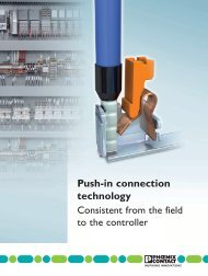 Push-in connection technology - Phoenix Contact