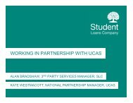 WORKING IN PARTNERSHIP WITH UCAS - HEI Services