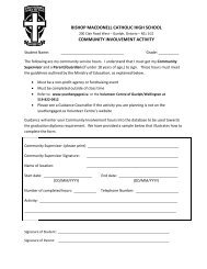 Community Service Hours FORM