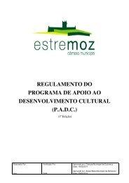 regulamento do programa de apoio ao desenvolvimento cultural