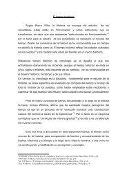 El tiempo histórico Según Pierre Villar, la Historia se encarga del ...