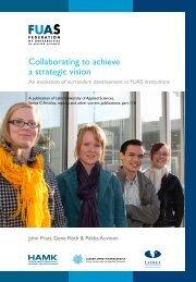 Collaborating to achieve a strategic vision - HAMK