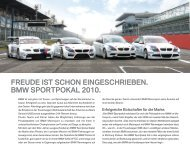 freude ist schon eingeschrieben. bmw sportpokal ... - BMW Motorsport