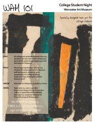 pdf flyer - Worcester Art Museum
