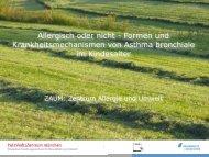 Allergisch oder nicht - Formen und Krankheitsmechanismen von ...