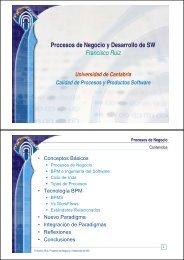 Procesos de negocio y desarrollo de software