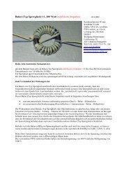 Balun (Typ Sperrglied) 1:1, 200 Watt undefinierte Impedanz