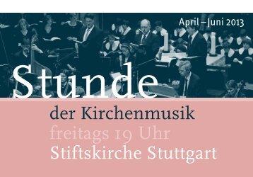 Stunde der Kirchenmusik - Programm April bis Juni ... - Bach : vokal