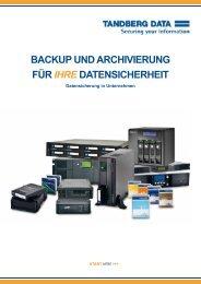 Backup und archivierung für IHRE datenSicherheit - Tandberg Data