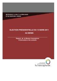 Béninrapport d'étape - Espace francophone des droits de l'homme