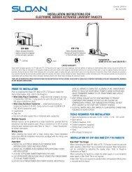 ETF-660 ETF-770 Installation Instructions - Sloan Valve Company