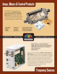 Amps, Mixers & Control Products Frequency Sources - Spectrum ...