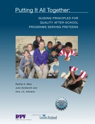 Putting It All Together: - California After School Resource Center