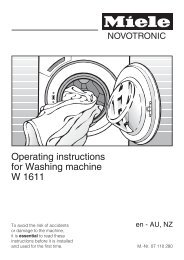 Operating instructions for Washing machine W 1611 - Miele