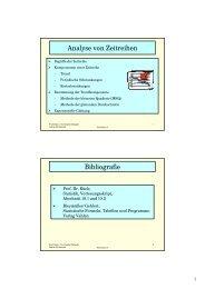Analyse von Zeitreihen Bibliografie