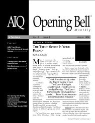 August 1996 - AIQ Systems