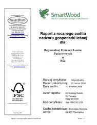 Raport z rocznego auditu nadzoru gospodarki leśnej dla - Rainforest ...