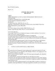 R.G.N°48.695 le feuillet. Rep.N° 2C) COUR DU TRAVAIL DE ...
