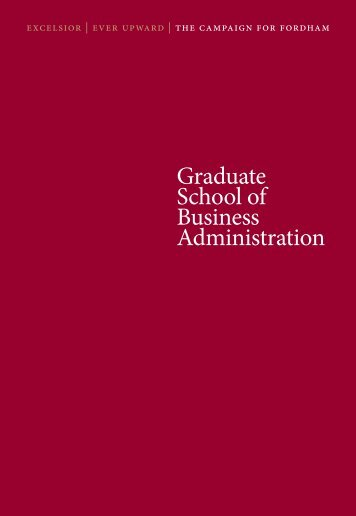 Graduate School of Business Administration - Fordham University