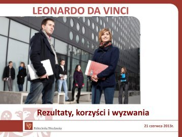 wyjazdy na staże zagraniczne w projektach PLM ... - Erasmus