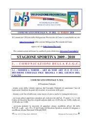 COMUNICATO n.35 del 12/03/2010 - FIGC