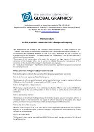 Memorandum relating to the projected conversion ... - Global Graphics