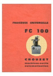 FC 100 - Usinages