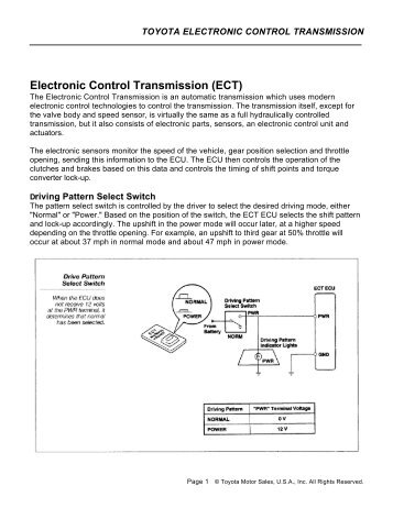 Electronic Control Transmission (ECT) - Autoshop 101