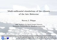 Multi-millennial simulations of the climate of the late Holocene