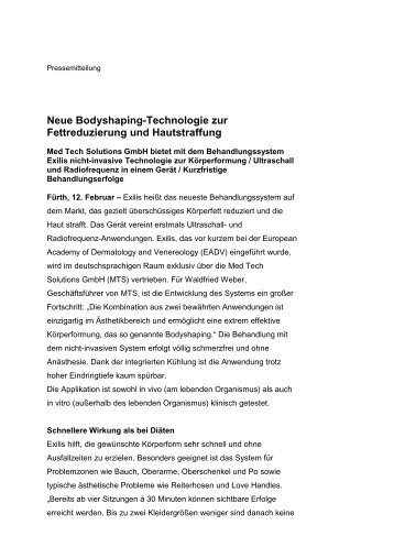 Med Tech Solutions GmbH: Neue Bodyshaping-Technologie zur ...