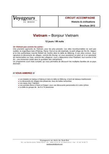 Vietnam - Bonjour Vietnam - Voyageurs du Monde