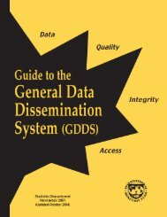 General Data Dissemination System (GDDS) Guide - 2004 - Paris21