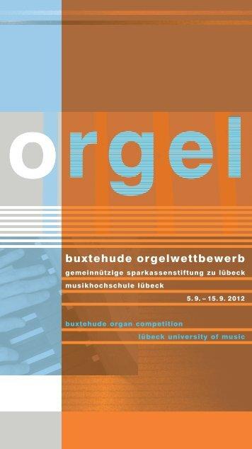 buxtehude orgelwettbewerb - Musikhochschule Lübeck