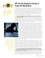 MFY FYI Fall 2007 - MFY Legal Services