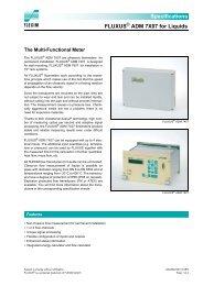 Specifications FLUXUS ADM 7X07 for Liquids