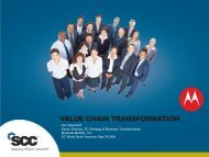 VALUE CHAIN TRANSFORMATION - Supply Chain Council