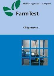 Oliepressere - LandbrugsInfo